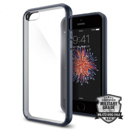 Pouzdro Spigen Ultra Hybrid pro Apple iPhone 5S/SE Metal Slate