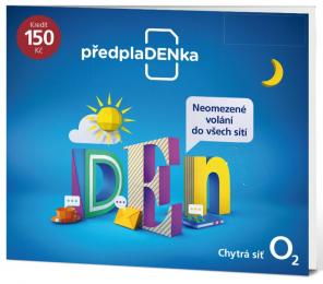 O2 SIM karta 150 Kč předplaDENka