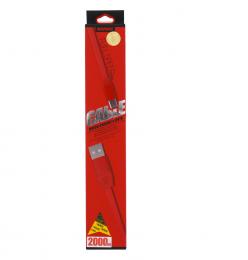 Remax Full Speed 2M iPhone 5/5S/6/6 Plus Datový Kabel červený