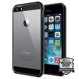 Pouzdro Spigen Ultra Hybrid pro Apple iPhone 5S/SE Black