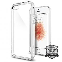 Pouzdro Spigen Ultra Hybrid pro Apple iPhone 5S/SE Clear