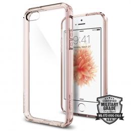 Pouzdro Spigen Ultra Hybrid pro Apple iPhone 5S/SE Rose Crystal