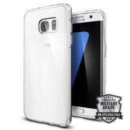 Pouzdro Spigen Ultra Hybrid pro Samsung G935F Galaxy S7 Edge Crystal Clear