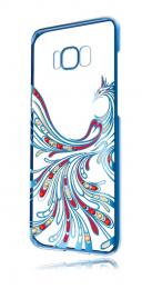 Pouzdro Made by Swarovski Crystal Dance pro Samsung Galaxy S8 G950F modré