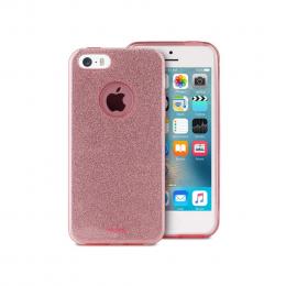 Pouzdro Puro Cover Shine pro Apple iPhone 5/5S/SE růžové