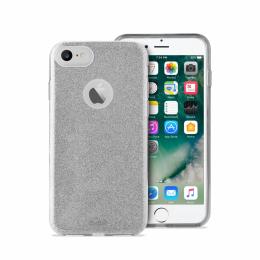 Pouzdro Puro Cover Shine pro Apple iPhone 7 stříbrné