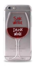 Pouzdro Puro Limitovaná edice pro Apple iPhone 6/6S plastový zadní kryt s motivem vína