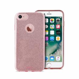 Pouzdro Puro Cover Shine pro Apple iPhone 7 růžové zlato