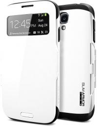 Pouzdro Spigen SLIM Armor View (SGP10344) pro Samsung Galaxy S4 bílé