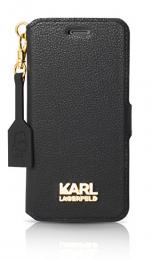 Pouzdro Karl Lagerfeld Grany Gold Book černé pro Apple iPhone 7