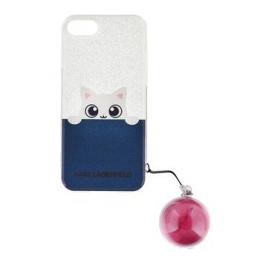 Pouzdro Karl Lagerfeld Peek a Boo TPU zadní kryt pro Apple iPhone 5/5S/SE růžové