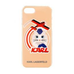 Pouzdro Karl Lagerfeld Choupette Stewart TPU zadní kryt pro Apple iPhone 7 zlatý