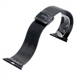 Univerzální řemínek alá Milanese pro Apple Watch 42 mm černý