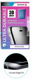 Swissten Tvrzené Sklo 3D H pro Apple iPhone 6/6S bílé