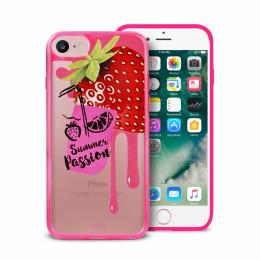 Pouzdro Puro Summer Juice Collection zadní kryt pro Apple iPhone 6/6S/7 motiv jahoda