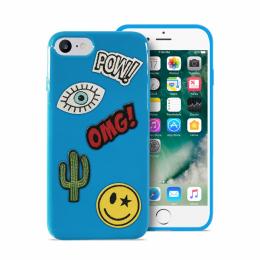 Pouzdro Puro Patch Mania zadní kryt pro Apple iPhone 6/6S/7 modrá