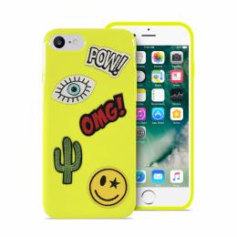 Pouzdro Puro Patch Mania zadní kryt pro Apple iPhone 6/6S/7 žluté