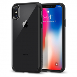 Pouzdro Spigen Ultra Hybrid pro Apple iPhone X Crystal Black