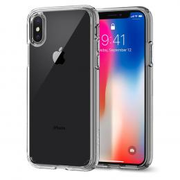 Pouzdro Spigen Ultra Hybrid pro Apple iPhone X Crystal Clear