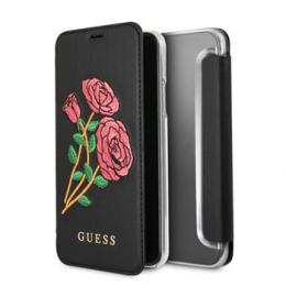 Pouzdro Guess Flower Desire Book pro Apple iPhone X (GUFLBKPXEROBK) černé