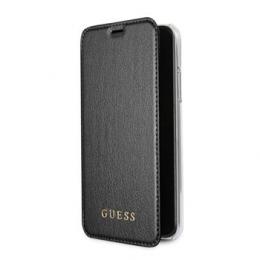 Pouzdro Guess Iridescent Book pro Apple iPhone X (GUFLBKPXIGLTBK) černé