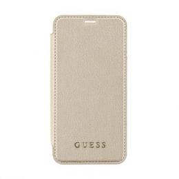 Pouzdro Guess Iridescent Book pro Apple iPhone X (GUFLBKPXIGLTGO) zlaté