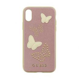 Pouzdro Guess Studs and Sparkle pro Apple iPhone X (GUHCPXPBURG) růžovo zlaté