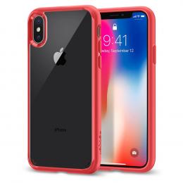 Pouzdro Spigen Ultra Hybrid pro Apple iPhone X Crystal Red