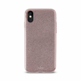 Pouzdro Puro Cover Shine pro Apple iPhone X růžovo zlaté