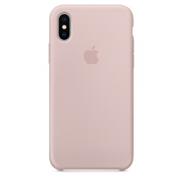 Pouzdro Apple Silicone Case pro Apple iPhone X - MQT62ZM/A Pink Sand