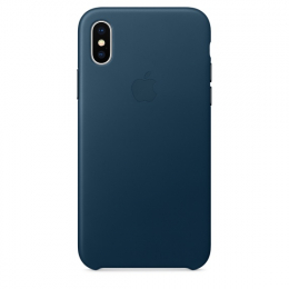 Pouzdro Apple Leather Case pro Apple iPhone X/Xs Midnight Blue