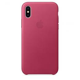Pouzdro Apple Leather Case pro Apple iPhone X - MQTJ2ZM/A Pink Fuchsia