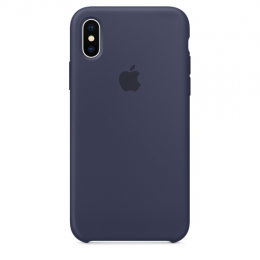 Pouzdro Apple Silicone Case pro Apple iPhone X - MQT32ZM/A Midnight Blue