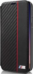 Pouzdro BMW Carbon Book Case iPhone X černé