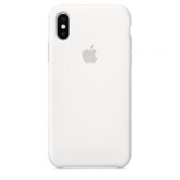 Pouzdro Apple Silicone Case pro Apple iPhone X/Xs - MRW82ZM/A White