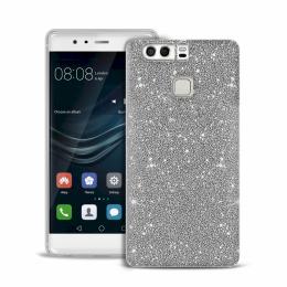 Pouzdro Puro Cover Shine pro Huawei P9 stříbrné