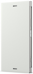 Pouzdro Sony SCSG50 Style Cover Flip pro Sony Xperia XZ1 stříbrné