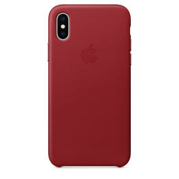 Pouzdro Apple Leather Case pro Apple iPhone X/Xs Product Red