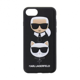Pouzdro Karl Lagerfeld (KLHCI8KICKC) Karl and Choupette Hard Case pro Apple iPhone 7/8 Black