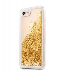 Pouzdro Guess (GUHCI8GLUFLGO) Liquid Glitter Hard Case pro Apple iPhone 7/8 Gold
