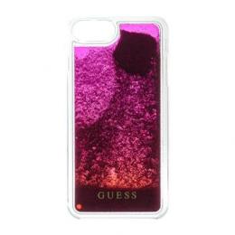 Pouzdro Guess (GUHCP7GLUGRPI) Liquid Glitter Hard Case pro Apple iPhone 7/8 Pink