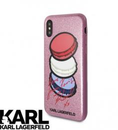 Pouzdro Karl Lagerfeld Paris TPU Pink pro Apple iPhone X