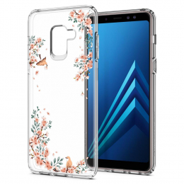 Pouzdro Spigen Liquid Crystal pro Samsung A530F Galaxy A8 2018 Blossom