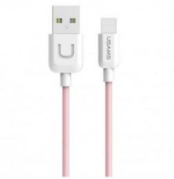 USAMS SJ097 datový kabel s konektorem Lightning růžový