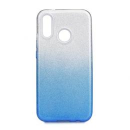 Pouzdro Forcell silikonové pro Huawei P20 Lite transparentní s modrou