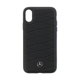 Pouzdro Mercedes (MEHCPXWHCLBK) Hard Case Pattern III pro Apple iPhone X Black