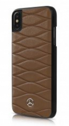 Pouzdro Mercedes (MEHCPXCSPBR) Hard Case New Bow pro Apple iPhone X Walnut Brown