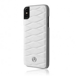 Pouzdro Mercedes (MEHCPXWHCLWH) Hard Case Pattern III pro Apple iPhone X White