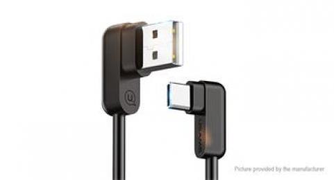 USAMS SJ167 U Flow datový kabel s konektorem USB-C černý