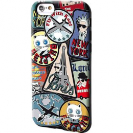 Pouzdro Karl Lagerfeld The World Paris TPU pro Apple iPhone 6/6S